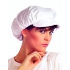 Gorra señora popelin blanca